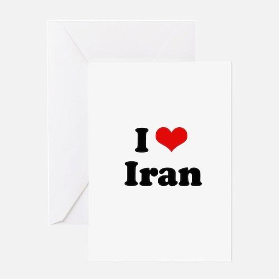 I love Iran Greeting Card