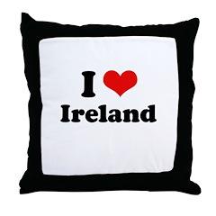 I love Ireland Throw Pillow