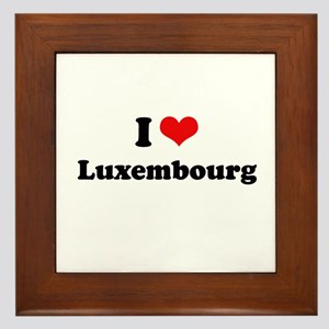 I love Luxembourg Framed Tile