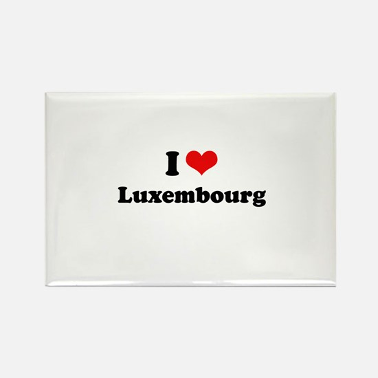I love Luxembourg Rectangle Magnet