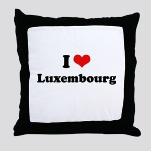 I love Luxembourg Throw Pillow