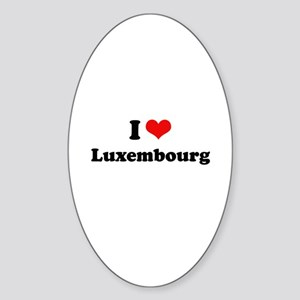 I love Luxembourg Oval Sticker