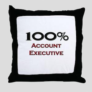100 Percent Account Executive Throw Pillow