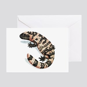 Gila Monster Lizard Greeting Cards