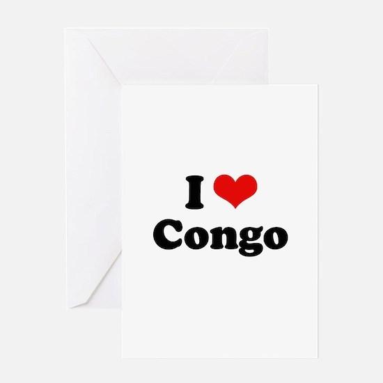 I love Congo Greeting Card