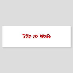 Tug Of War Heart Design Bumper Sticker