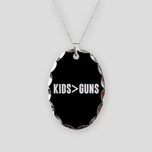 Kids>Guns Necklace Oval Charm