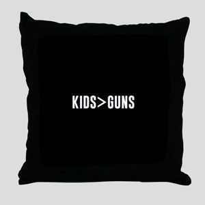 Kids>Guns Throw Pillow