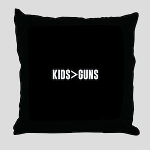 Kids>Guns Throw Pillow