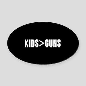 Kids>Guns Oval Car Magnet