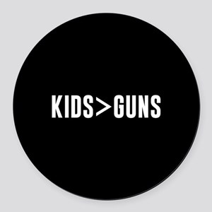 Kids>Guns Round Car Magnet