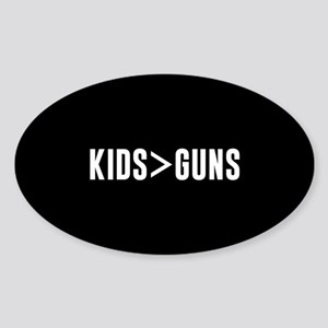 Kids>Guns Sticker (Oval)