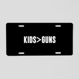 Kids>Guns Aluminum License Plate