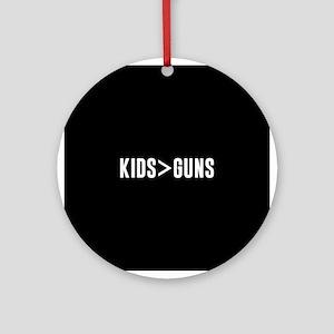 Kids>Guns Round Ornament