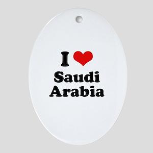 I love Saudi Arabia Oval Ornament