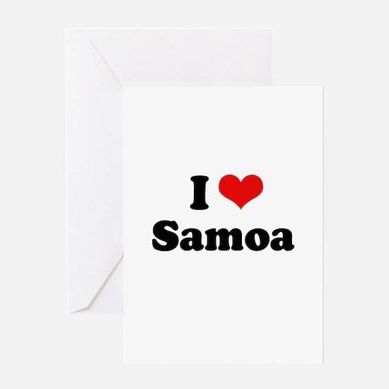 I love Samoa Greeting Card