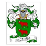 Becerra Family Crest Small Poster