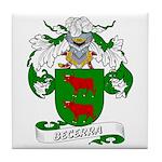 Becerra Family Crest Tile Coaster