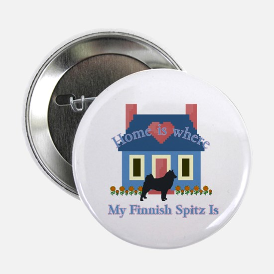 """Finnish Spitz Home Is 2.25"""" Button (10 pack)"""