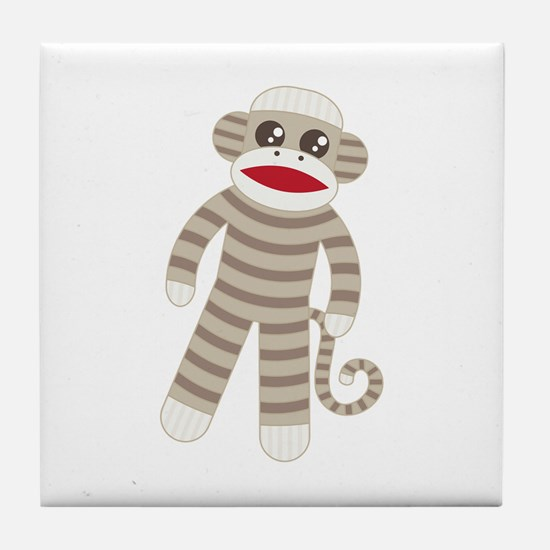 Sock Monkey Tile Coaster