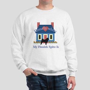 Finnish Spitz Home Is Sweatshirt