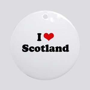 I love Scotland Ornament (Round)