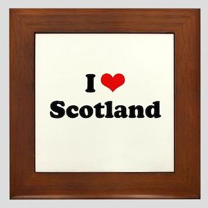 I love Scotland Framed Tile