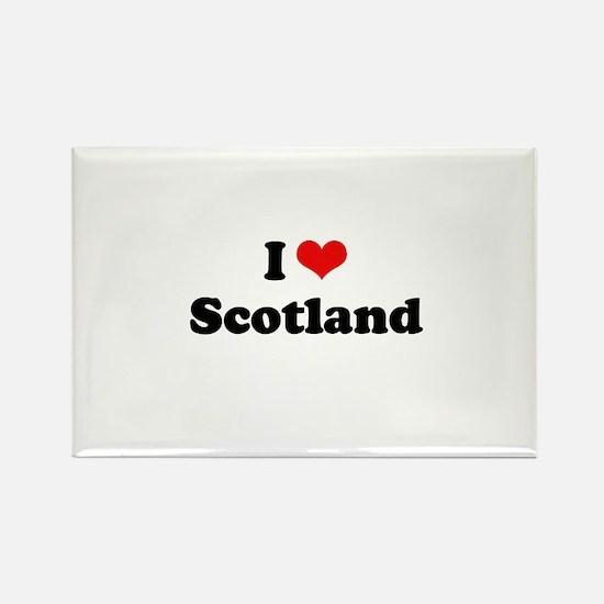 I love Scotland Rectangle Magnet