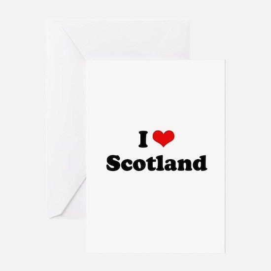 I love Scotland Greeting Card