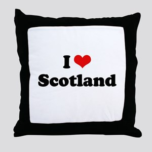 I love Scotland Throw Pillow