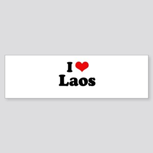 I love Laos Bumper Sticker
