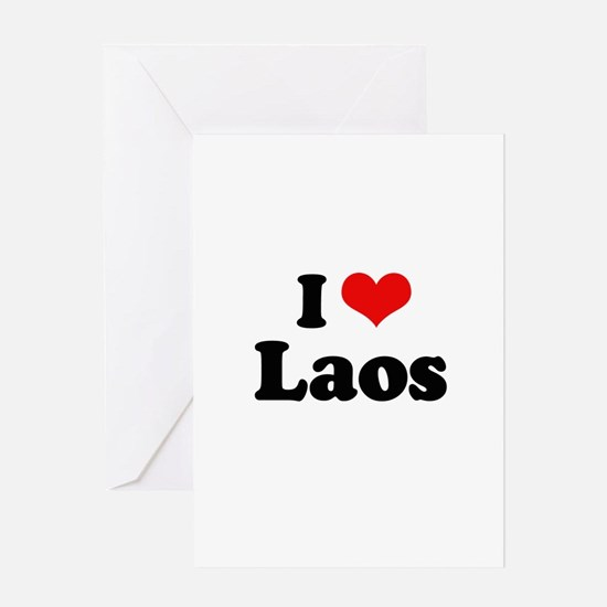 I love Laos Greeting Card