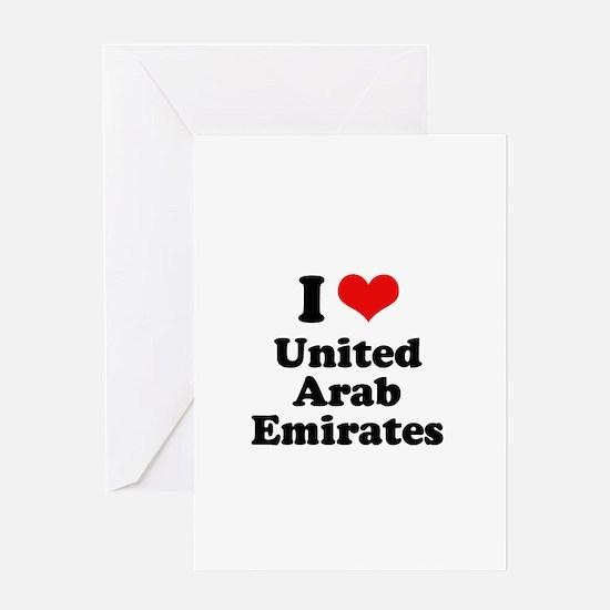 I love United Arab Emirates Greeting Card