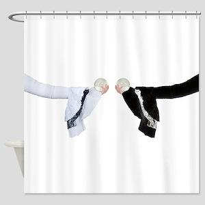 WhiteBlackGothicCrystalBall050110.p Shower Curtain