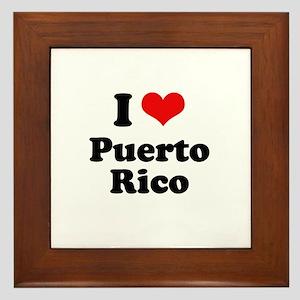 I love Puerto Rico Framed Tile
