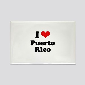 I love Puerto Rico Rectangle Magnet