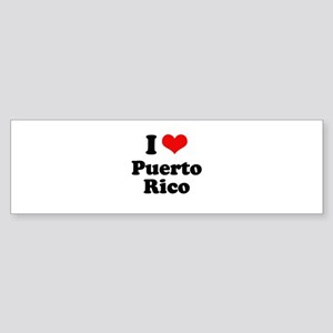 I love Puerto Rico Bumper Sticker