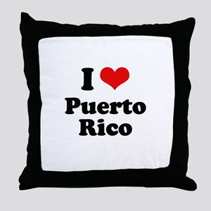 I love Puerto Rico Throw Pillow