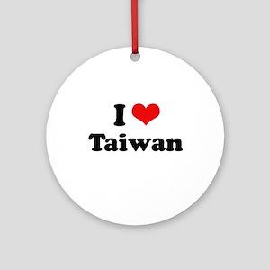 I love Taiwan Ornament (Round)