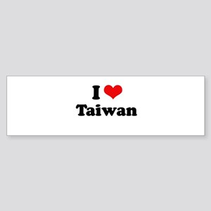 I love Taiwan Bumper Sticker