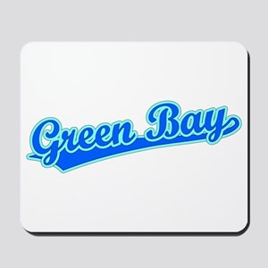 Retro Green Bay (Blue) Mousepad