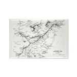 PRR Electrified Lines Map Rectangle Magnet (10 pac
