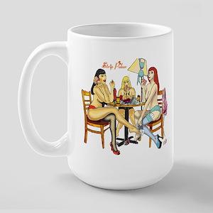 Strip Poker Large Mug