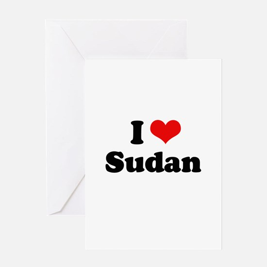 I love Sudan Greeting Card