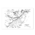 PRR Electrified Lines Map Postcards (Package of 8)