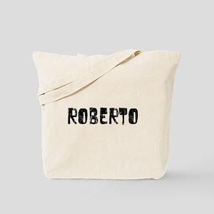Roberto Faded (Black) Tote Bag