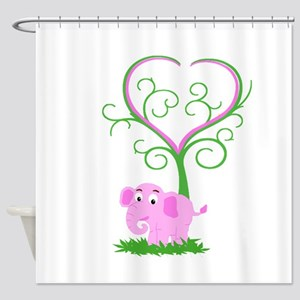 Passionate elephant Shower Curtain