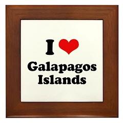 I love Galapagos Islands Framed Tile