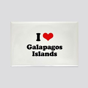 I love Galapagos Islands Rectangle Magnet