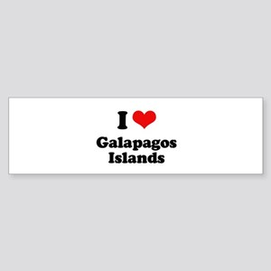 I love Galapagos Islands Bumper Sticker